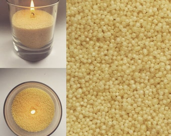 Vanilla scent bead candle wax for your own design candles, vegetable candle wax