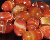 Slightly Imperfect Translucent Natural CARNELIAN Agate Chalcedony Assorted Sizes / Colors/ Patterns Large Rice Bead Pendant - I0978