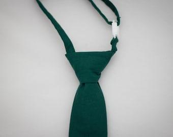 Hunter Green Clip on Necktie - Infant, Toddler, Boys