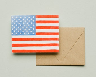 Letterpress Card - American Flag