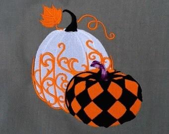 Harlequin Pumpkins Tarot/Altar Cloth