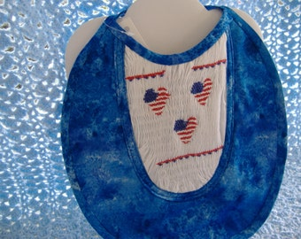 "Hand Smocked Childrern""s Bib."