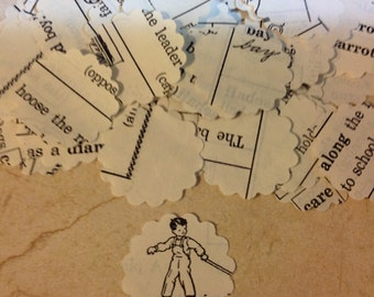 Handmade Confetti from Vintage Childrens Dictionary Pages Over 650 Punches - Rippy Bits by TangoBrat Ready to Ship