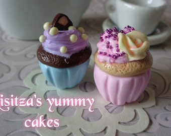 Yummy miniature cupcakes for ball jointed doll BJD MSD 1/4 scale