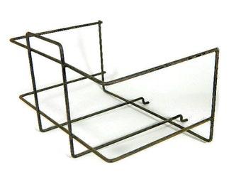 Vintage Wire Peg Board Bin Basket Industrial Multiples