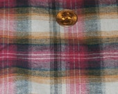 """Beautiful Vintage Pink, Black, White and Rust Flannel 44 x 108"""" - 3 Yards"""