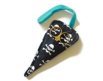 Scissor keeper, case, sleeve Skulls