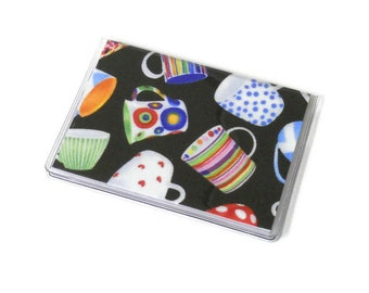 Card Case Mini Wallet Coffee Cups