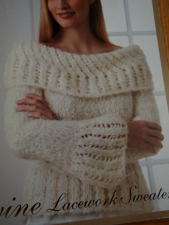 Knitting Pullover Patterns : Womens Knit Sweater Pattern - Instant Download Knitting Pattern - Divine...