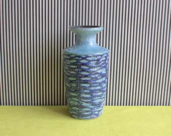 Vintage East German Pottery Light Blue Vase by VEB Haldensleben