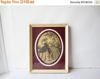 ON SALE Vintage Antique Victorian Illustration - Two Victorian Women - Genre Scene