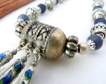 SALE!! Secrets Of Morocco Silver & Blue Necklace SALE!!