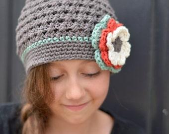 Beanie for Girls, Beanie Hat, Toddler Girl Hat, Crochet Toddler Hat for Girls, Little Girl Hat, Winter Hat, Girl's Hat