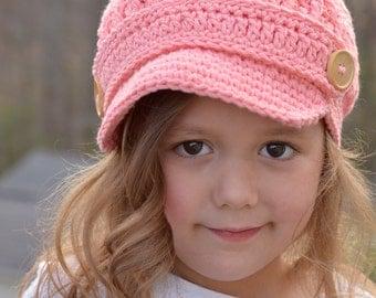 Crochet Hat for Girls, Girl's Newsboy Hat, Crochet Newsboy Hat for Girls, Crochet Newsgirl Hat, Hat for Toddler Girls, Toddler Hat for Girls