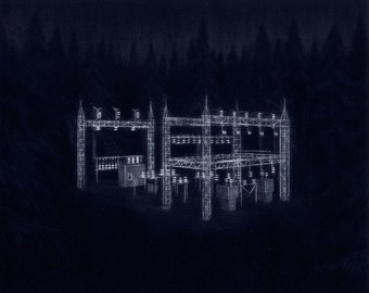 Forest Substation - Original Mezzotint