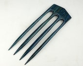 Four Prong Hair Fork made from Striped Twilight  DymondWood-  Very durable. Water resistant.