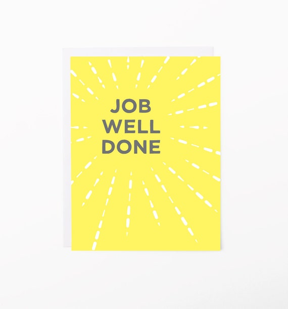 congratulations card job well done greeting card