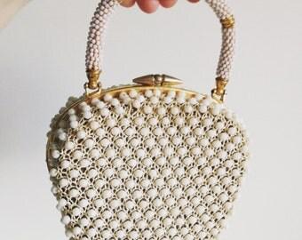Mid-Century Handmade Beaded Purse/Handbag