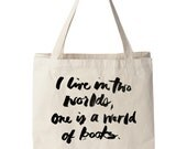 World of Books Tote, Rory Gilmore Quote, Typography, Books Quote, Book Tote, Quote Tote, Christmas Gift, Gilmore Girls