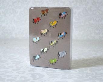 Hermes Horse Poker Card Deck Unused, Vintage Playing Cards Deck, Unopened Designer Hermes Deck of Cards,  Stocking Stuffer, Designer Gifts