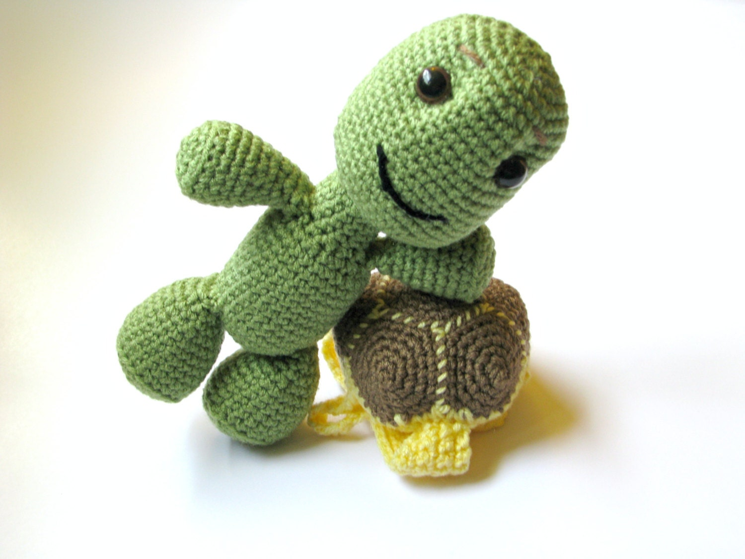 Crochet Turtle Turtle with Removable Shell Toy Turtle Sea