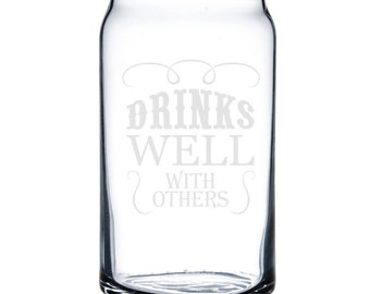 Beer Can Glass 16 oz. - 8753 Drinks Well with Others
