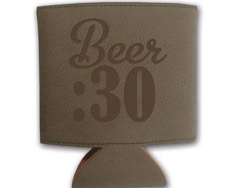 Light or Dark Leather Beverage Holder. - 10719 Beer :30
