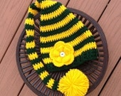 Green Bay Packers stocking hat/football hat/Packers hat/long tail hat (fits babies to adults)