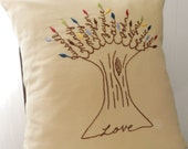 Love Family Pillow Cover. Valentine's Day Gift.  Personalized Family Tree. Parents Anniversary Gift. Gift for Mom Birthday.  Love Pillow.