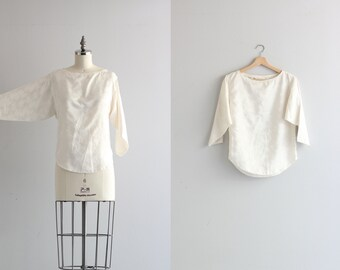 Vintage Basic White Tee Womens Blouse . 80s 1980s Vintage Shirt