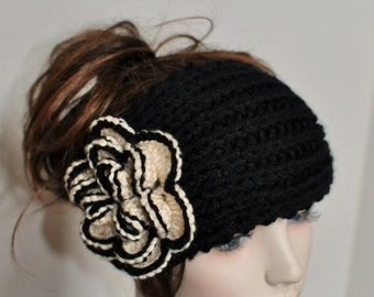 University of Colorado Hat Crochet Flower Headband Knit Colorado Ear Warmer CHOOSE COLOR  Crochet Colorado Buffaloes Headband Ear Warme