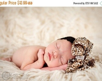 10% off SALE animal print Baby headband, newborn headband, adult headband, clip, photography prop The single sprinkled- Leopard rhinestone b