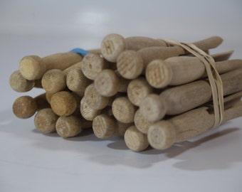 Set of 23 Vintage Wooden Clothespins