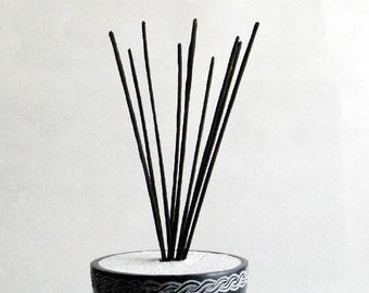 GREEN TEA Incense - Natural incense, all natural, meditation incense, premium incense, low smoke incense