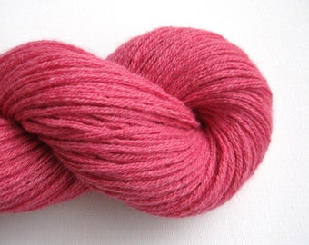 Bulky Weight Merino Cashmere Blend Recycled Yarn, Watermelon Pink, 190 Yards, Lot 120516