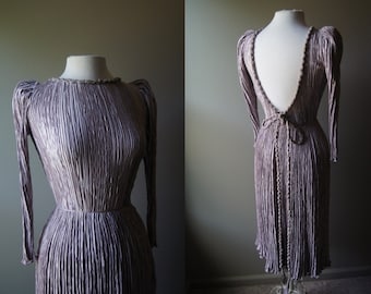 Vintage MARY MCFADDEN Lilac Gown Greek Gown Lilac Dress McFadden Gown McFadden Dress Small Dress Small Gown Greek Dress Marii Pleat Purple