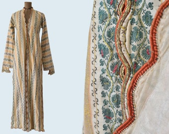 19th c Persian Kaftan Robe Paisley Brocade
