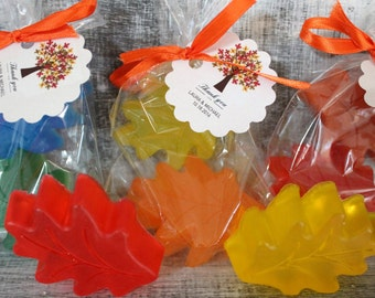 LEAF Soap Party Favors:  Bridal Shower, Wedding Favor, Baby Shower Favors, Fall Favors, Birthday Favors, Fall Wedding, Halloween Favors