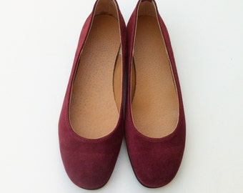ballet flats, red shoes, women shoes / leather shoes / flat shoes