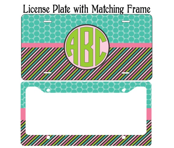 Monogram License Plate Personalized License Plate License