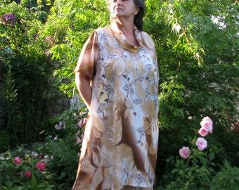 boho tunics/dress...Tops & Tees...blouse top shirt lagenlook tunics satin fabric Plus Size tunics XXL/XXXL