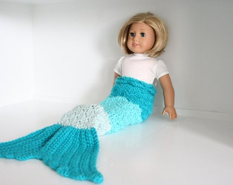 Doll mermaid tail, mermaid tail for 18 inch dolls, doll clothing 18 inch, ombre mermaid tail, doll mermaid costume, 18 inch Doll Clothes