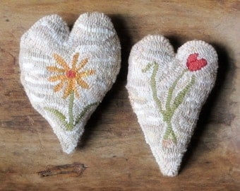 Three Hearts Rug Hooking Pattern