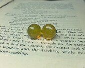 SALE Marigold Reclaimed glass Post Earrings