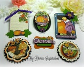 G45 Children's Hour October / Halloween Handmade Paper Embellishments for Scrapbooking Layouts Cards Mini Albums Tags Paper Crafts