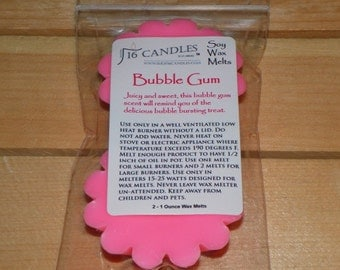 Bubble Gum Scented Wax Melts ~ Sweet and Fruity Scent ~ 2 Pack Soy Wax Tarts