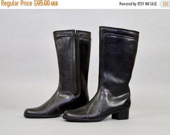 ANNIVERSARY SALE Black FAUX Sheepskin Lined Winter Boots (Us 10)