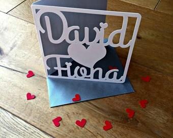 Carte personnalisée de fiançailles, livraison rapide et gratuite