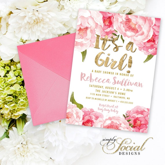 Floral Baby Shower Invitations is the best ideas you have to choose for invitation example