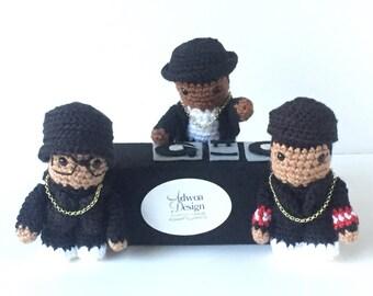 Run DMC and Jam Master Jay Inspired Crochet Dolls